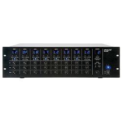 Mikser ARTSOUND MAT-8000, 8x8 audio matrix + paging, 70V/100V/4-16Ohm, 3U