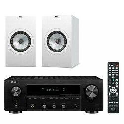 Mrežni receiver DENON DRA-800H + zvučnici KEF Q350 bijeli