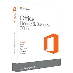 Software MS OFFICE HOME AND BUSINESS 2016 CRO MEDIALESS