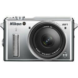 Fotoaparat NIKON 1 AW1 + 1 NIKKOR AW 11-27,5 mm srebrni