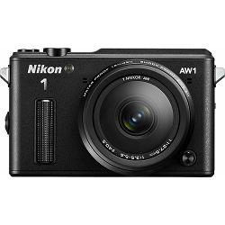 Fotoaparat NIKON 1 AW1 + 1 NIKKOR AW 11-27,5 mm crni + poklon memorijska kartica 32GB