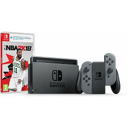 Igraća konzola NINTENDO Switch - Grey Joy-Con HAD + NBA 2K18 Switch