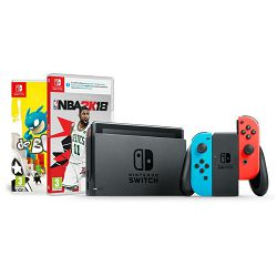 Igraća konzola NINTENDO Switch - Red & Blue Joy-Con HAD + NBA 2K18 + de Blob Switch