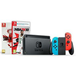 Igraća konzola NINTENDO Switch - Red & Blue Joy-Con HAD + NBA 2K18 + Sine Mora EX Switch