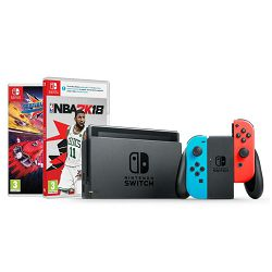 Igraća konzola NINTENDO Switch - Red & Blue Joy-Con HAD + NBA 2K18 + Trailblazers Switch