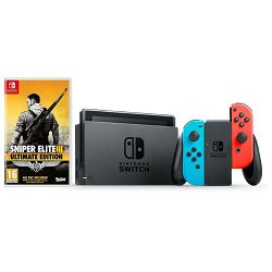 Igraća konzola NINTENDO Switch - Red & Blue Joy-Con HAD + Sniper Elite III Ultimate Edition Switch
