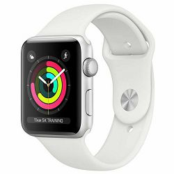 Pametni sat APPLE Watch Series 3 GPS, 38mm Silver Aluminium case with white sport band