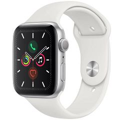 Pametni sat APPLE Watch Series 5 GPS, 44mm Silver Aluminium Case with White Sport Band - S/M & M/L