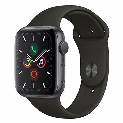Pametni sat APPLE Watch Series 5 GPS, 44mm Space Grey Aluminium Case with Black Sport Band - S/M & M/L