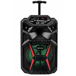 """Party zvučnik DENVER TSP-120 8"""" (Bluetooth, LED zaslon, 8W RMS, punjiva baterija 2200mAh, rad do 4h, mikrofon, ugrađeni kotači)"""