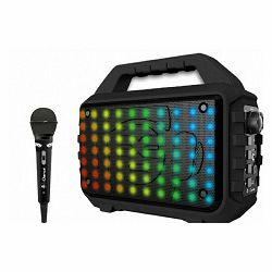 Party zvučnik iDance Blaster 400 karaoke  (80W, Bluetooth, USB, disco LED, FM, baterija, mikrofon)