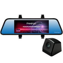 Kamera za snimanje vožnje PRESTIGIO RoadRunner MIRROR (prednja FHD 1920x1080@30fps, stražnja VGA640x480@30fps, 6.86