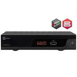 DVB-T2 prijemnik TELE SYSTEM TS6820T2 Twin DVB-T/T2/C, H.265/HEVC, HDMI,Scart