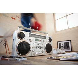 Prijenosni audio sustav GPO RETRO BROOKLYN krom srebrni