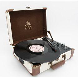 Prijenosni gramofon GPO RETRO AMBASSADOR Cream Tan