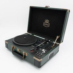 Prijenosni gramofon GPO RETRO AMBASSADOR crno zeleni