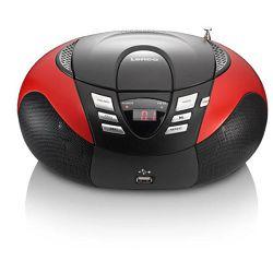 Prijenosni radio LENCO SCD-37 USB/CD crveni