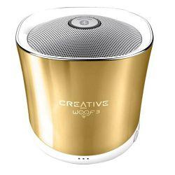 Prijenosni zvučnik CREATIVE LABS Woof 3 zlatni (Bluetooth, 6 sati)