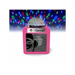 Prijenosni zvučnik IDANCE NANO CN2 rozi (Bluetooth, disco kugla, 5W, baterija)