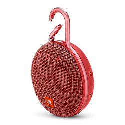 Prijenosni zvučnik JBL CLIP 3 crveni (Bluetooth, baterija 10h)