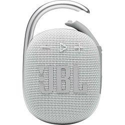 Prijenosni zvučnik JBL CLIP 4 bijeli (Bluetooth, baterija 10h)