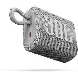 Prijenosni zvučnik JBL GO 3 bijeli (Bluetooth, baterija 5h)