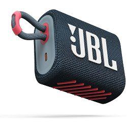 Prijenosni zvučnik JBL GO 3 blue pink (Bluetooth, baterija 5h)