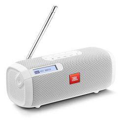 Prijenosni zvučnik JBL TUNER bijeli (DAB/FM radio, Bluetooth, 8 sati reprodukcije)