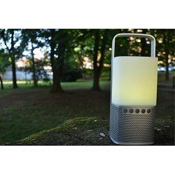 Prijenosni zvučnik SCANSONIC Lighthouse Silver (Bluetooth, LED lampa, powerbank)
