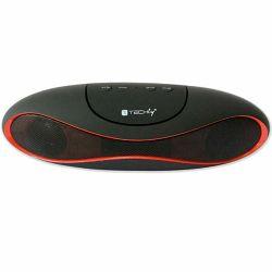 Prijenosni zvučnik TECHLY ICASBL01 crno/crveni (Bluetooth, FM radio, baterija 5h)