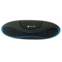 Prijenosni zvučnik TECHLY ICASBL04 crno/plavi (Bluetooth, FM radio, baterija do 5h)