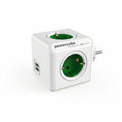 Produžna LETVA POWER CUBE ORIGINAL USB, zelena, 1202GN/DEO