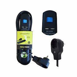Produžni kabel MAXPOWER GC03KU-SP 3met. USB 2X