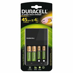 Punjač baterija DURACELL CEF14 + baterije, 2x AA /2x AAA