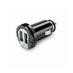 Punjač za mobitel CELLULARLINE DUAL USB CAR CHARGER 2A crni