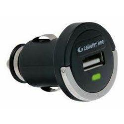 Punjač za mobitel CELLULARLINE USB MICRO CAR CHARGER crni
