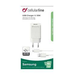 Punjač za mobitel CELLULARLINE USB Micro SAMSUNG 2A/10W bijeli