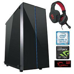 Računalo X-GAMER LITE (i3 8350K, 8GB RAM, 240GB SSD, 1TB HDD, GeForce GT 730)