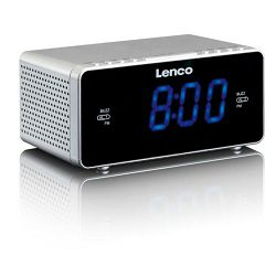 Radio budilica LENCO CR-520 silver