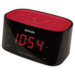 Radio budilica SENCOR SRC 180 RD crvena