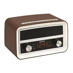 Radio DENVER CRB-619 (bluetooth, budilica) smeđi