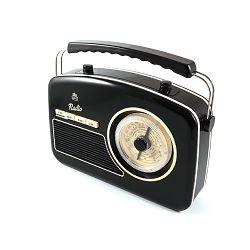 Prijenosni radio GPO RETRO RYDELL NOSTALGIC crni