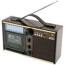 Radio na kazete SAL RRT 11B - retro dizajn