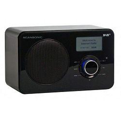 Radio SCANSONIC IN220BT crni (Bluetooth, Wi-Fi, Internet radio)