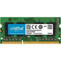 RAM memorija CRUCIAL 8GB DDR3L 1600 MT/s  (PC3-12800) CL11 SODIMM 204pin 1.35V/1.5V for Mac