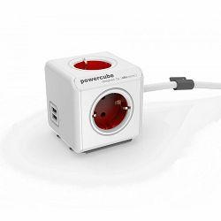 Razdjelnik POWERCUBE EXTENDED USB crveni