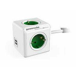 Razdjelnik POWERCUBE EXTENDED USB zeleni