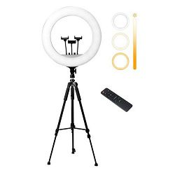 Ring light NEON HEMERA RL-21  (54cm), LED + profi stativ za ring light/fotoaparat, daljinski