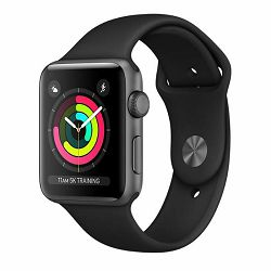 Sat APPLE Watch series 3 GPS 38mm space grey with black sport band