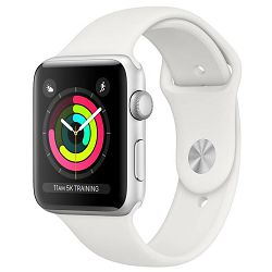 Sat APPLE Watch series 3 GPS 42mm silver with white sport band